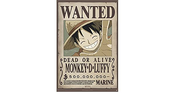 ABYstyle - ONE PIECE - Cartel - Wanted Luffy new (91.5x61)