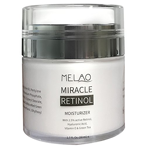 Miracle Moisturizing Moisturizer - Upgraded Face Moisturizer, Miracle Retinol Moisturizing Face Cream, Anti Aging Formula Reduces Wrinkles, Fine Lines, Daily Face Moisturizer for Dry Skin, Best Daily Face Moisturizer for 2018