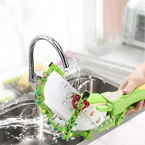 Makaor Handheld Automatic Dish Scrubber Brush Antibacterial Kitchen Dishwasher Brush Kitchen Cleaning Tool Automatic Dish Scrubber Brush (Green, Size:41.8cm x 11.5cm x 7cm) by Makaor (Image #10)