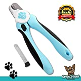 Clip your pet's nails with confidence! Thanks to super-sharp blades & built-in safety guard, these clippers will cut ANY dog's nails easily & safely. Bonus nail file & instruction eBook included.   Scared to clip your dog's nai...
