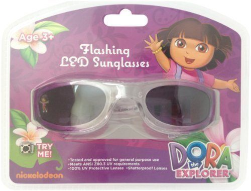 SunTime Nickelodeon Dora the Explorer Flashing LED Sunglasses Featuring Dora and Boots with Butterflies by from SunTime