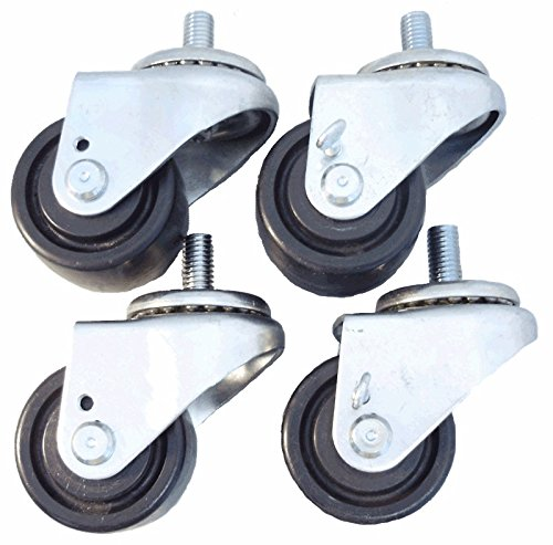 2 1/2'' Caster Set of 4 for True Refrigerators, Brakes, Polyolefin Wheels by Access Casters Inc.