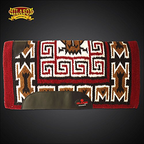 HILASON Western New Zealand Wool Horse Saddle Blanket Sand Brown White
