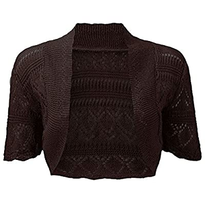 Ladies Knitted Bolero Crochet Cardigan Shrug