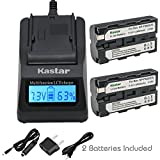 Kastar Battery 2x + Fast Charger for Sony NP-F570 NP-F550 NP-F530 NP-F330 & CCD-RV100 CCD-SC5 CCD-SC9 CCD-TR1 CCD-TR215 CCD-TR940 Camcorder, CN-126 CN-160 CN-216 CN-304 YN 300 VL600 LED Video Light