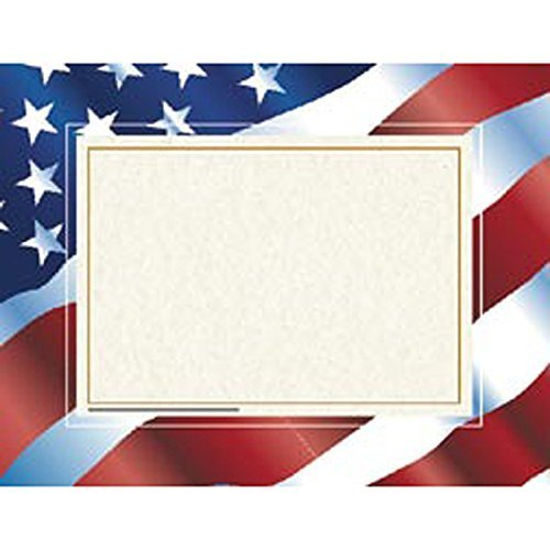 (Hayes School Publishing H-VA651 Stars Fn Stripes Certificate Border/Computer Paper by HAYES SCHOOL PUBLISHING )