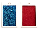 Aluminum X-Ray Markers - Blue/Red Glitter, Left