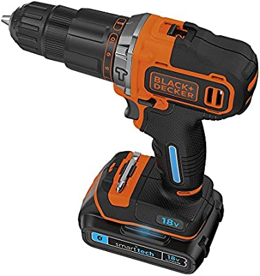 BLACK+DECKER 18 V Lithium-Ion Smart Tech Hammer Drill Driver with