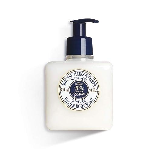 L'Occitane Ultra-Rich Hand & Body Wash Enriched with 5% Shea Milk, 10.1 fl. oz.