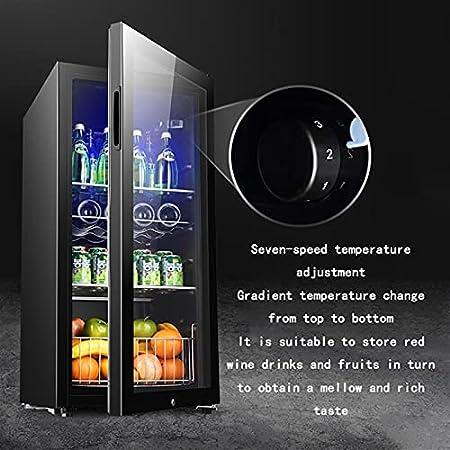 Compresor de 24 Botellas refrigerador de Vino refrigerador, Rojo, Blanco, congelador de Champagne, Bodega Independiente, Control de Temperatura silencioso (Color : Black, Size : 95 * 45 * 50cm)