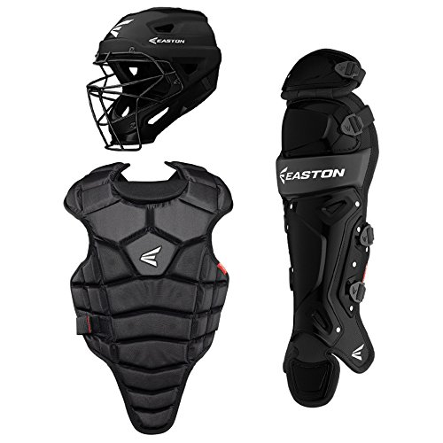 Easton M5 QWIKFIT Catchers Equipment Box Set | Youth | Black | 2020 | Black M5 Helmet Fits 6 1/8