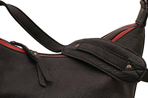 LE DRAKKAR Noir sac bandoulière cuir style vintage PAUL MARIUS