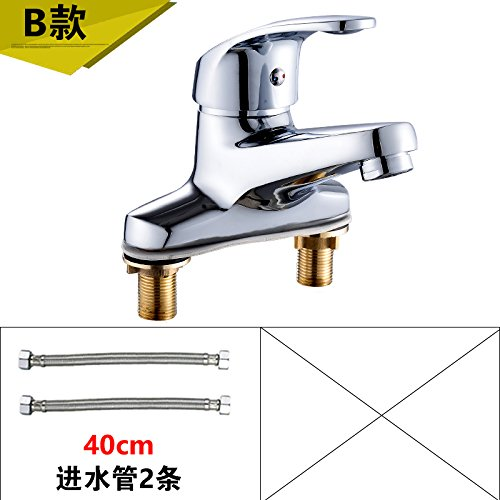 3 LHbox Basin Mixer Tap Bathroom Sink Faucet Smell the basin faucet hot and cold two hole faucet basin sink faucet full copper Washbasin Faucet I, paragraph 2 of the +60CM Hose