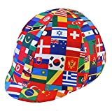 Equestrian Riding Helmet Cover - World Flags