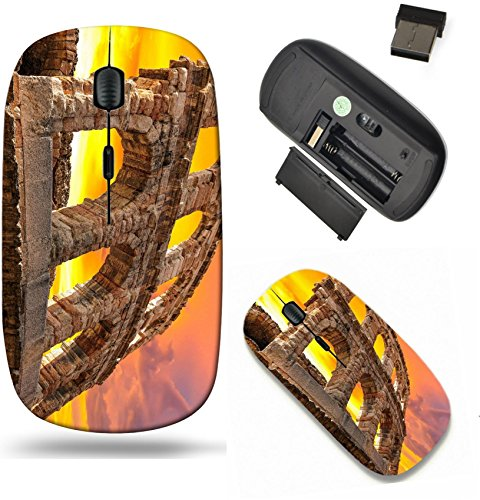 Liili Wireless Mouse Travel 2.4G Wireless Mice with USB Receiver, Click with 1000 DPI for notebook, pc, laptop, computer, mac book The ruins of ancient Roman arena in Verona at sunset XXL size Image I