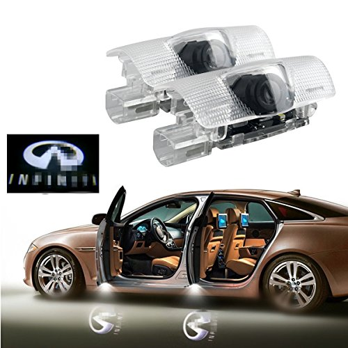2Pcs Car Door Logo Projector Light Vehicle Ghost Shadow Courtesy Lights  Yanf Symbol Emblemed Welcome Ground Lamp Kit For Infiniti Q50 Fx35 Fx37 F50 G37 Qx70 Qx60 Ex35 G35