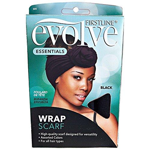 Evolve Wrap Scarf, Black (Head Wrap Scarf)