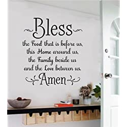 Large Bless The Food Before Us Vinyl Wall Art Decal Word Sticker Home Décor Gift 32x36