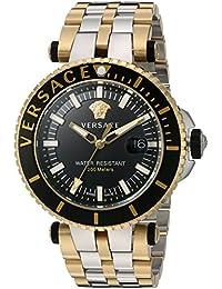 Men's 'V-Race' Swiss Quartz Stainless Steel Casual Watch, Color:Two Tone (Model: VAK040016)