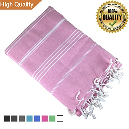 100% Cotton Towel with Tassel / Fringe for Beach, Travel, Spa, Bath / High Thread Count, Silky Touch 38