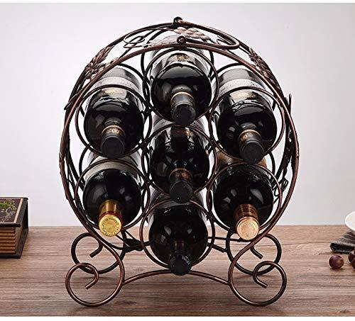 XIAOGEGEHJ Estantería Creativa Creativa Creativa para Botellas de Vino de Varias Botellas. Estante para Vino, marrón 519267