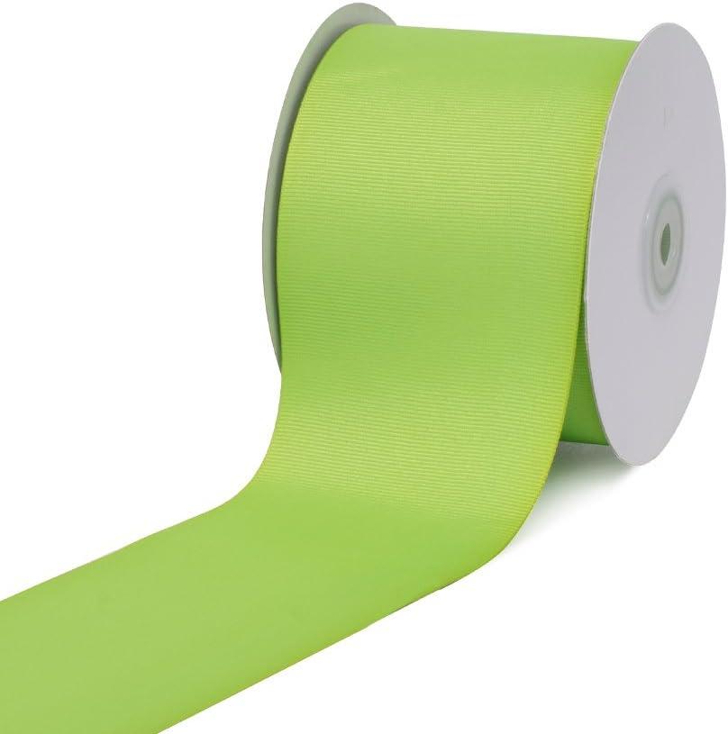 """Creative Ideas, 3"""" Inch Solid Grosgrain Ribbon, 25 Yards, Apple Green, 25 yd,GRO3000-556"""