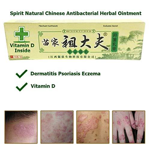Spirit Natural Chinese Antibacterial Herbal Ointment Cream Dermatitis Psoriasis Eczema with Vitamin D