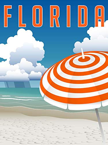 EzPosterPrints - Retro Style Travel Poster Series- Poster Printing - Wall Art Print for Home Office Decor - Florida - 36X48 ()