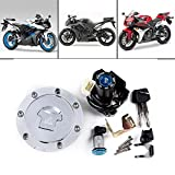 Set Ignition Switch Seat Lock Key Fuel Gas Tank Cap Compatible with Honda 2004-2007 CBR 1000RR 2003-2006 600RR