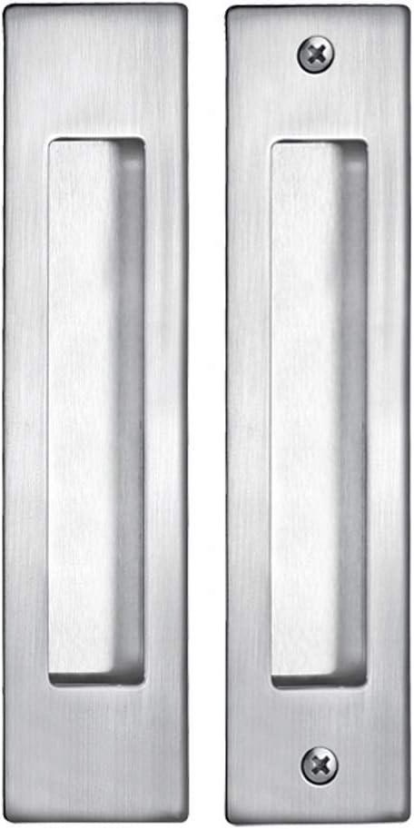AIYIJIA Tirador Empotrado for Puerta corredera Aleación de Zinc Negro Manija Oculta Manija del cajón del Armario Manija Rectangular empotrada 180mm x 32mm (Color : Silver)