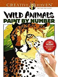 Creative Haven Wild Animals Paint by Number (Adult Coloring)