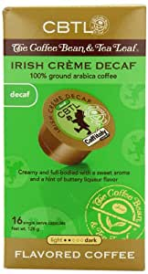 CBTL Irish Cr?me Decaf Coffee Capsules By The Coffee Bean & Tea Leaf, 16-Count Box