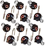 NFL Chicago Bears Shower Curtain Hooks Rings Set of 12