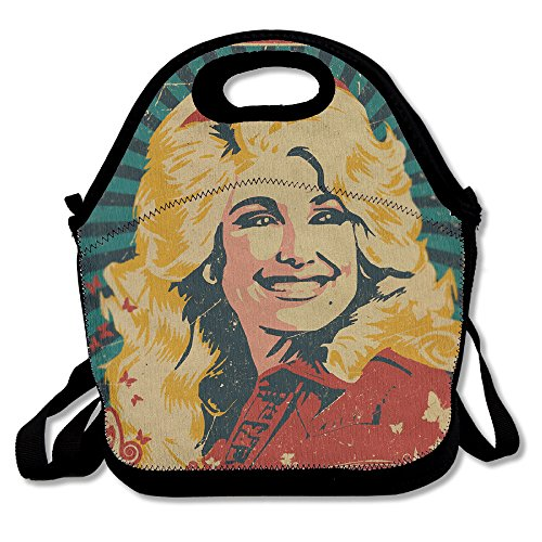 Dolly Parton Hungry Again Fiber Lunch Box Lunch Tote Lunch Bag Black