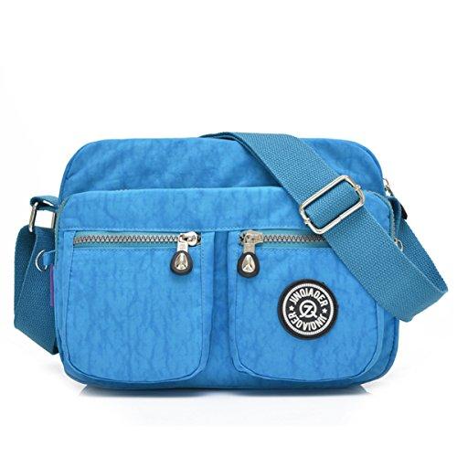 bandoulière sac Chou poches en imperméable sac Ciel bandoulière à avec léger Messenger Petit Bleu nylon compact 8wBTpBq