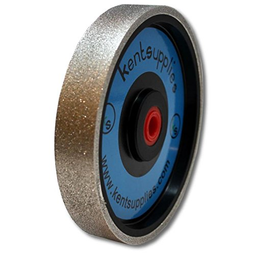 Grit 150 Kent 6'' Diam x 1'' Width Diamond Lapidary Jewelry Grinding Wheel by Kent Blades