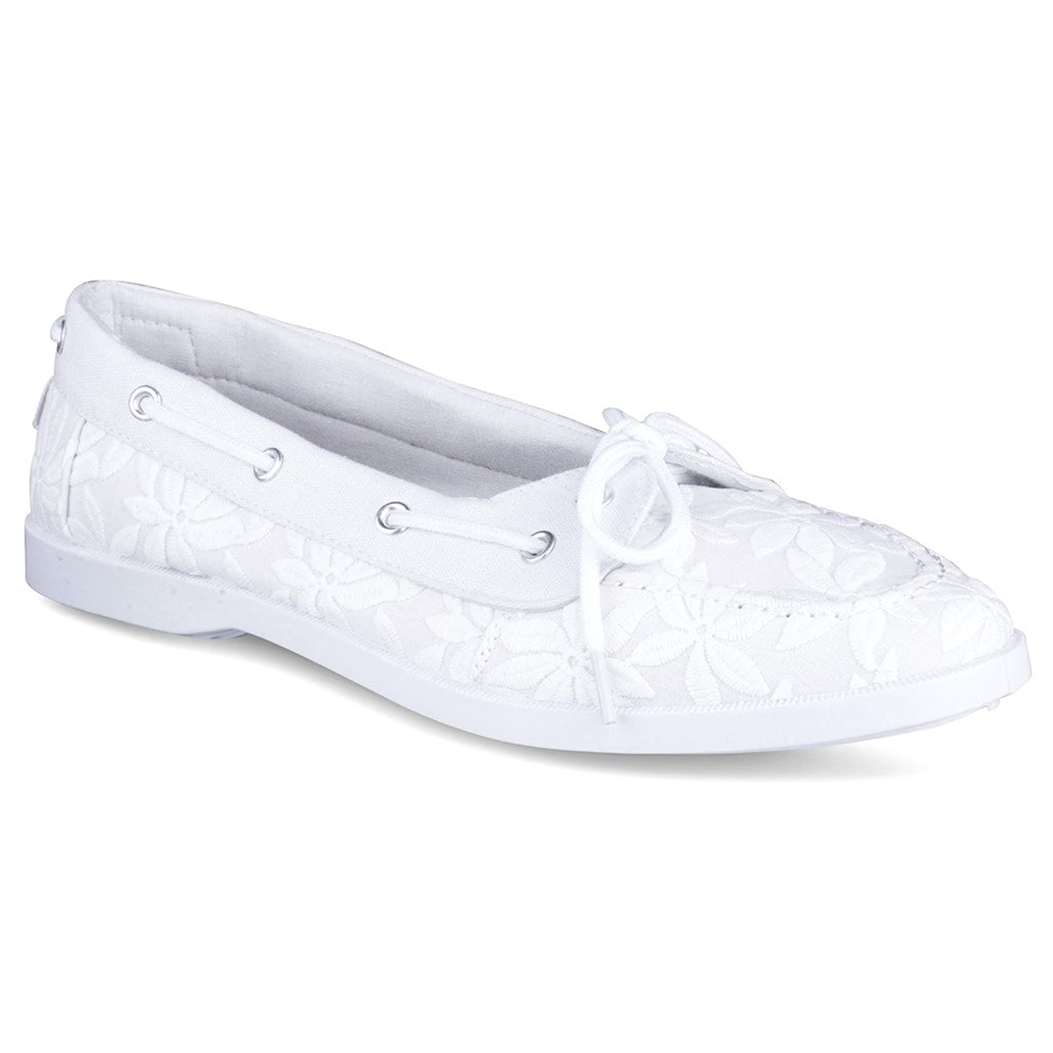 Twisted Women's Bonnie Floral Canvas Boat Shoe