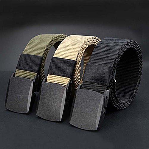 FairOnly 125CM Automatic Buckle Nylon Belt Male Army Belt Mens Military Waist Canvas Belts Survival Cummerbunds Strap