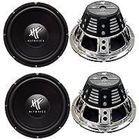 4) HIFONICS HFX12D4 12 2400W Car Audio DVC Subwoofers Power Bass Subwoofers