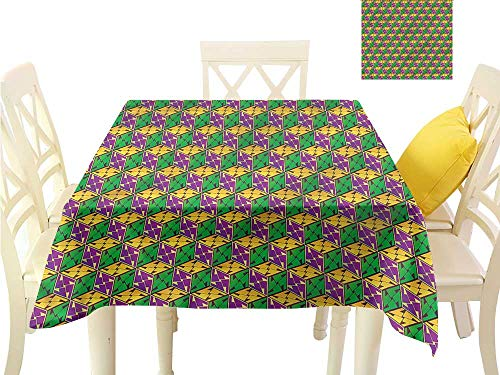 WilliamsDecor BBQ Tablecloth Abstract,Geometric Cube Square Table Cloth Cover W 36