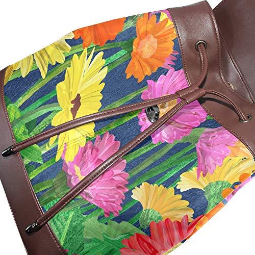 main Sac dos unique Taille au porté multicolore à femme DragonSwordlinsu pour EAfdqA