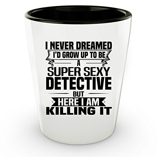 Interview With Vampire Costume (Super Sexy DETECTIVE Shot Glass - Funny and Pround Gift - Shot Glass, Coffee Cup)