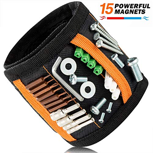 JIANYI Magnetic Wristband with Super Strong Magnets for Holding Screws, Nails, Drill Bits - Best Unique Gift for Men, Women, DIY Handyman, Father/Dad, Husband, Boyfriend