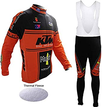 Wulibike - Maillot de ciclismo para hombre, manga larga, conjunto ...