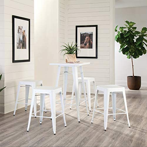 OFM 161 Collection Industrial Modern 4 Pack Fully Assembled 26″ Backless Metal Stools