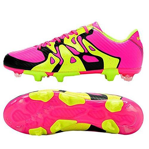 Mr. LQ - Zapatillas de combate de fútbol para adultos y zapatos de entrenamiento Pink