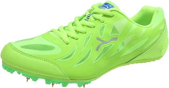 Zapatillas de Pista y Campo de Sprint Adultos Masculinos y Femeninos, Adolescentes Profesionales Zapatos de Carrera a pie, Botas Ligeras de Entrenamiento vocacional para Exteriores/Interiores: Amazon.es: Hogar