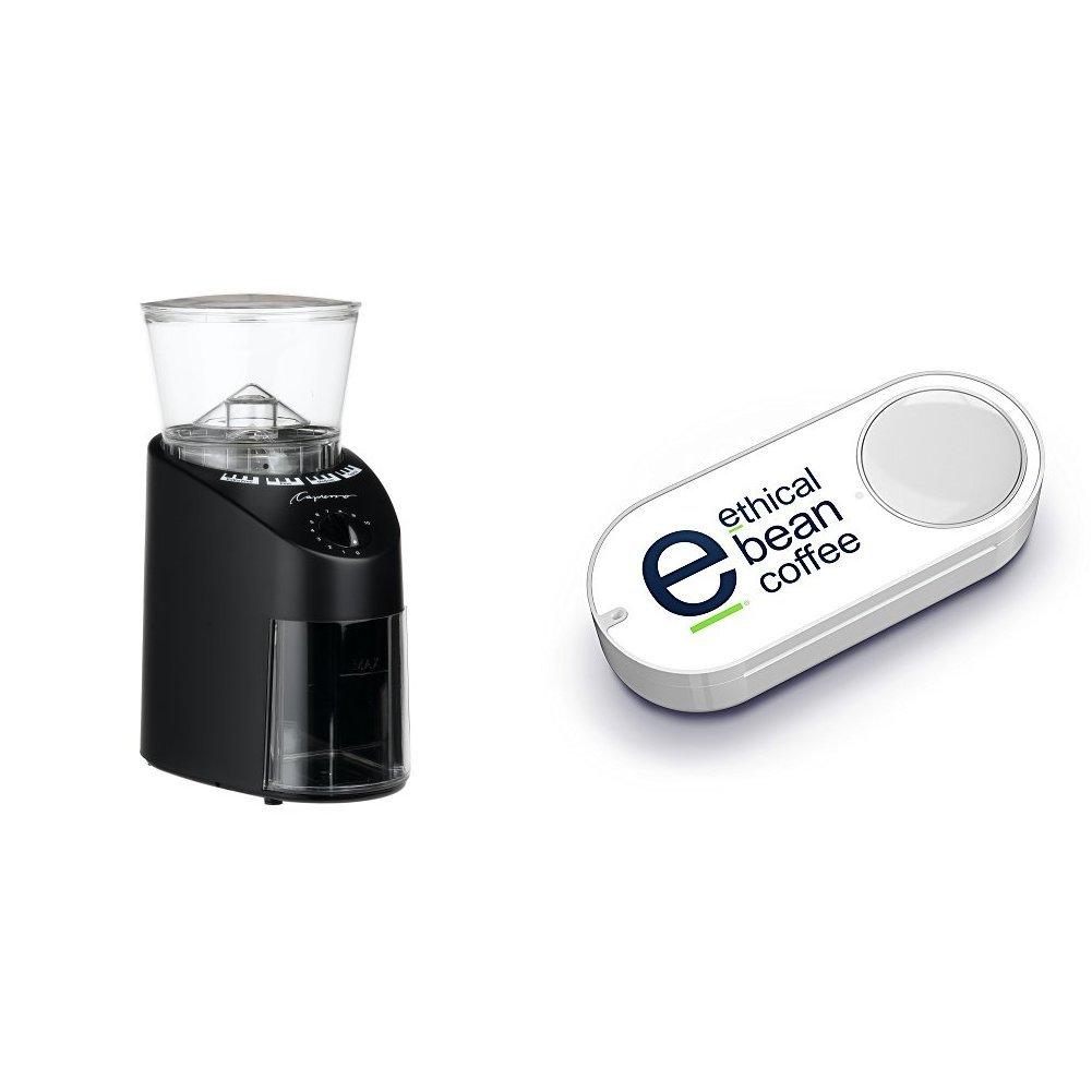 Capresso 560.01 Infinity Conical Burr, Black & Ethical Bean Coffee Dash Button