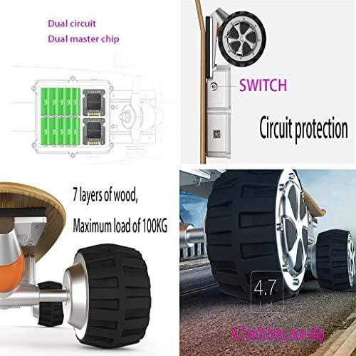 Y&XF Le Scooter Intelligent à Distance de Roue de la Planche à roulettes électrique Intelligente APP contrôle Le Type Tout-Terrain de 79 * 37 * 20cm 3500W, la Vitesse 18mph supérieure, 20 kilomètres