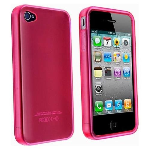 Price comparison product image Pink TPU Flexible Case For Apple Iphone 4 4G